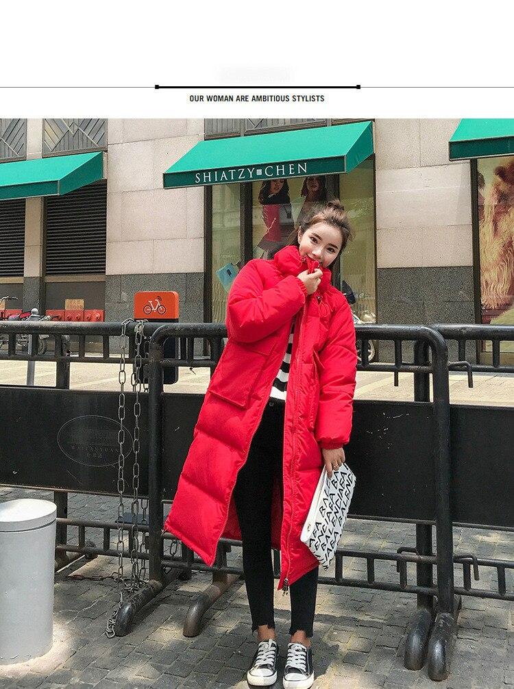 Rouge En Et Veste Duvet Nouvelle rouge Taille Chaud Épais Hiver Manteau Long Noir Grande Blanc blanc Noir gqcA71nwE