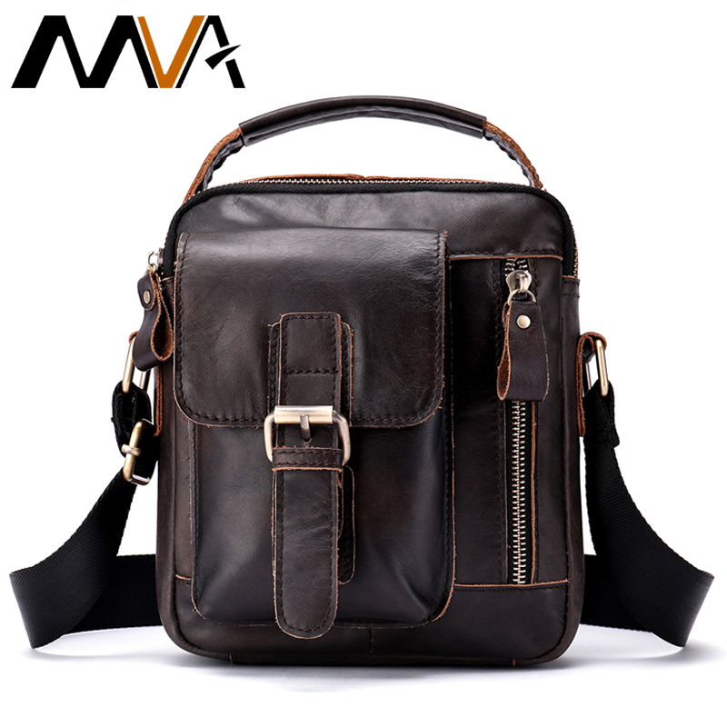 MVA Cow Genuine Leather Messenger Bag Men Travel Business Crossbody Shoulder Male Bag for Man Sacoche Homme Bolsa Masculina 8362 crazy horse genuine leather messenger bags men travel business crossbody shoulder bag for man sacoche homme bolsa masculina