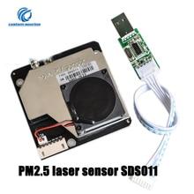 Высокоточный лазерный датчик PWM Nova PM sds011 PM2.5, цифровой выход SDS011, модуль датчика обнаружения качества, датчик пыли s