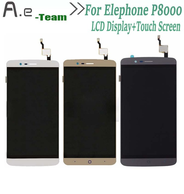 High Quality For Elephone P8000 LCD Display+Touch Screen Digitizer Replacement For Elephone P8000 5.5inch Smartphone + Tools