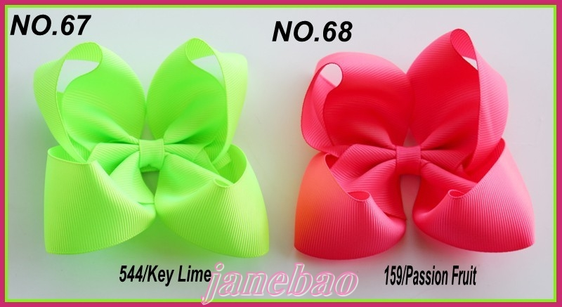 free shipping Newests 120pcs 4 fashion Boutique hair bows Girl ABC hair clips solid color hair