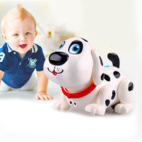 Electric Induction Robot Dog Interactive Music Sounding Electric Pet Dog Learning Interactive Amusement Toy Baby Developmental