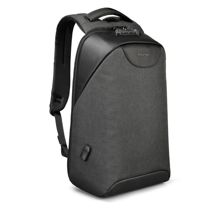 Tigernu Anti theft мужской рюкзак для ноутбука USB водостойкие школьные сумки подростка для мужчин рюкзаки без ключа TSA замок школы Mochila