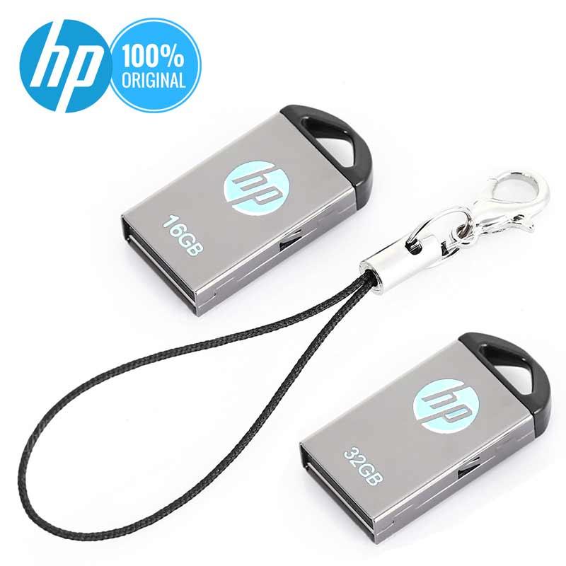 HP Flash Disk 16GB 32GB 64GB Metal Pendrive Laptop Cle USB Support Club Team Logo Customized DIY Mini Cute USB Flash Drive 64 G