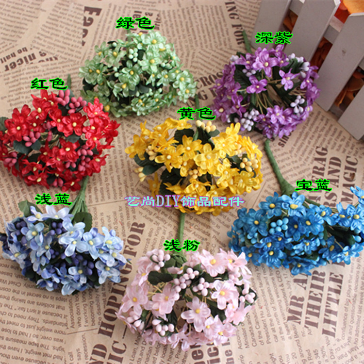 Aliexpress.com : Buy Artificial small fabric flowers,Silk cherry ...