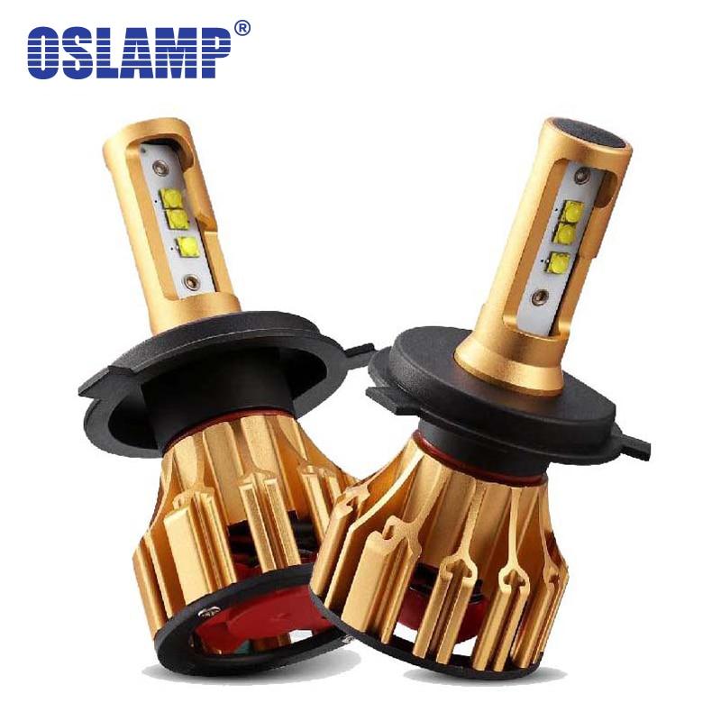 Oslamp SMD Led H4 Strålkastare H7 LED 6500K Vit bil 9005 9006 främre billampor Led H11Car-lampa HB3 HB4 H1-lampor allt-i-ett