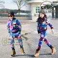 Marca de Diseño de moda Infantil Chicos Chicas Ropa de Bebé Estrella Universo Imprimir Chándales Niño Trajes Del Deporte Para Niños Boy Pareja