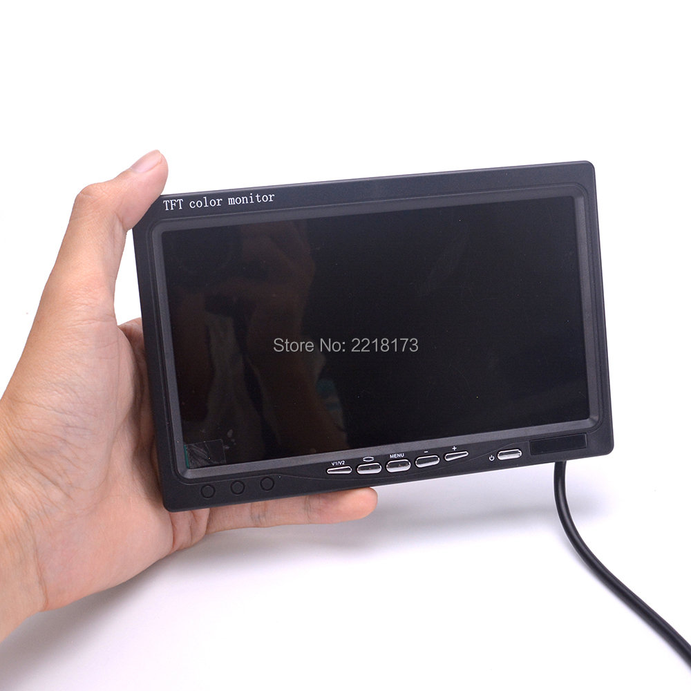 7 inch 7 LCD TFT FPV 1024 x 600 Monitor with T plug Screen FPV Monitor No blue for FPV Quadcopter