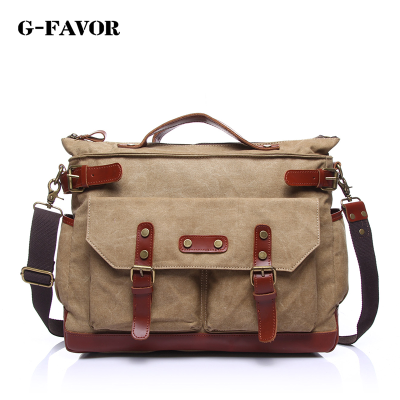Vintage Crossbody Bag Military Canvas + Leather shoulder bags Men messenger bag men leather Handbag tote Briefcase Leisure bag augur canvas leather men messenger bags military vintage tote briefcase satchel crossbody bags women school travel shoulder bags