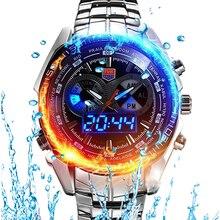 Top Men Watch TVG Dual Display Analog Digital Quartz Watch S