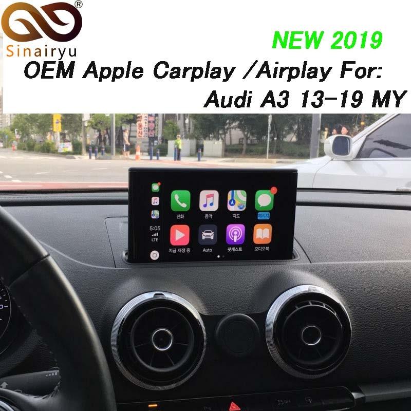 Sinairyu A3 3G MMI multimídia Carro Inteligente Maçã CarPlay Caixa OEM Maçã Carplay Android Auto IOS Airplay para Retrofit audi