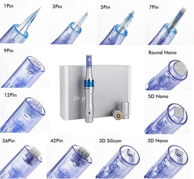 El dr. pluma A6 agujas 1 3 5 7 9 12 36 42 Nano aguja cartucho para MYM eléctrico Derma pluma Auto microaguja 30 unids/lote