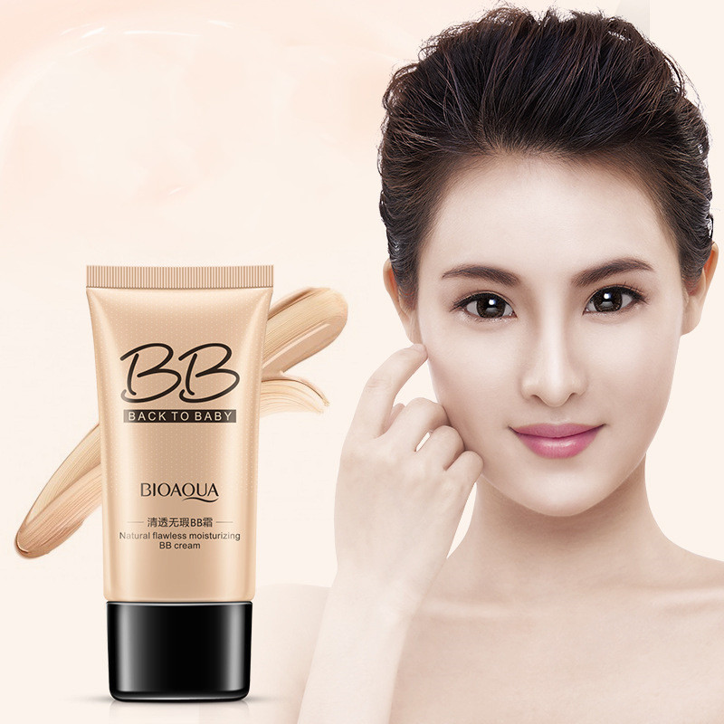 BB Cream Natural Whitening Moisturizing Concealer Nude Foundation Makeup Face Skin Facial Care Make Up Beauty
