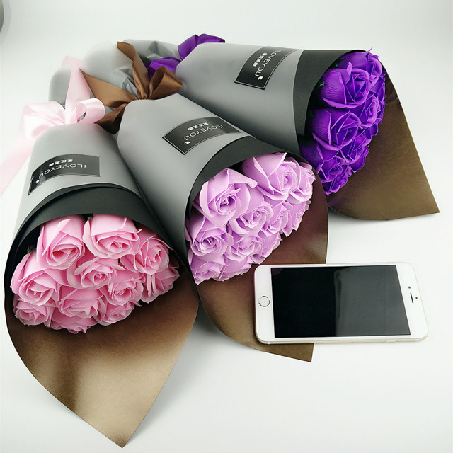 main parfum es et romantique mousse savon fleurs bouquet pour filles femmes cadeau d. Black Bedroom Furniture Sets. Home Design Ideas