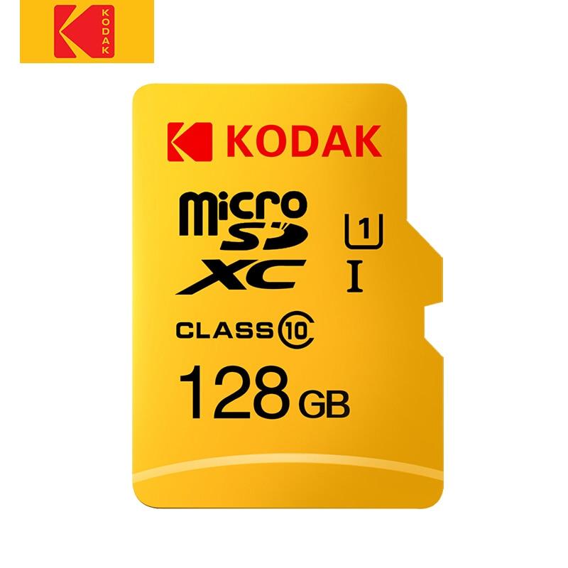 Kodak UHS-I U1 Class 10 MicroSD XC SDHC Memory TF Flash Card 128GB 64GB 32GB 16GB For Smartphone Tablet Video And Mobile Storage
