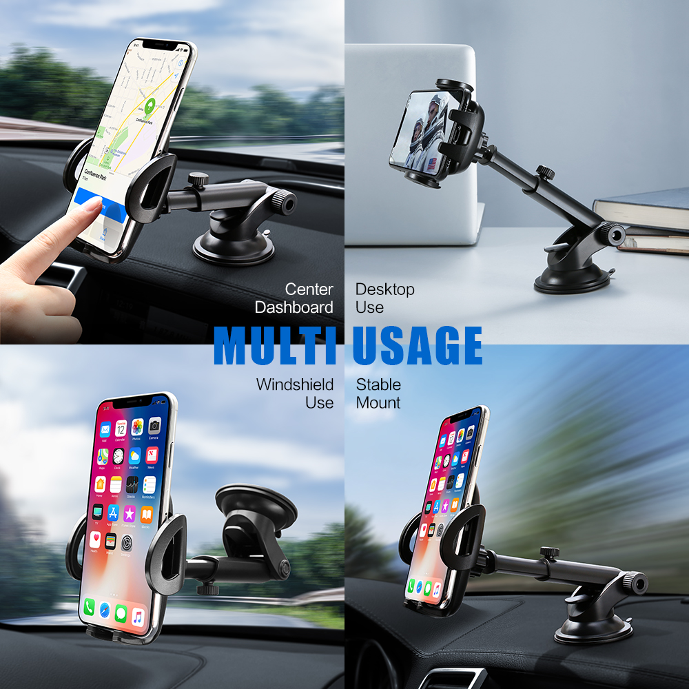Image 2 - FLOVEME Car Phone Holder For iPhone XS MAX XR X Xiaomi 360 Rotate Dashboard Windshield Car Mount Mobile Holder For Phone Stand-in Phone Holders & Stands from Cellphones & Telecommunications