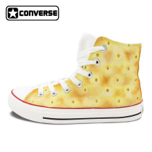 Converse All Star Soda Cracker Biscuit Original Design Hand Painted Shoes Custom High Top Sneakers Women