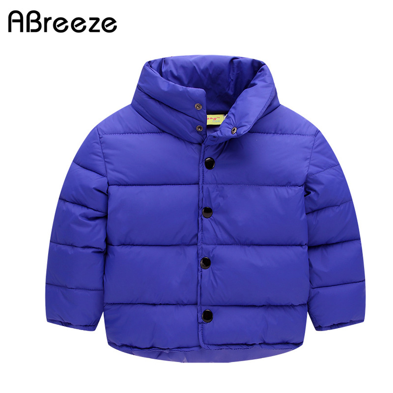 New winter children tops clothing casual cotton lining kids down & parkas for boys girls 2-8Y color blue gray warm boys coats