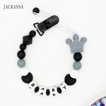 Buy personalised baby gifts and get free shipping on aliexpress personalized baby pacifier clips silicone alphabet letter beads pacifier chain soother clips personalised negle Image collections