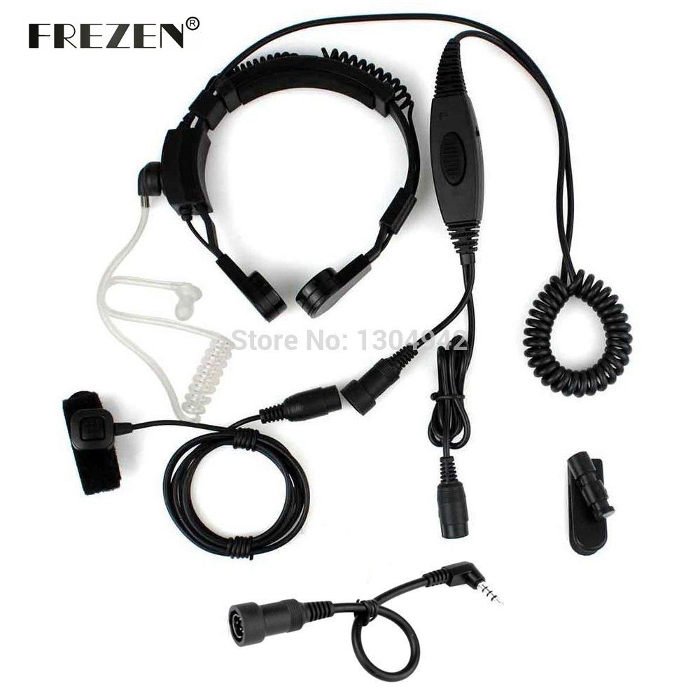 Police Radio Mic >> Military Police FBI Flexible Throat Mic Microphone Covert Acoustic Tube Earpiece Headset 1 pin 3 ...