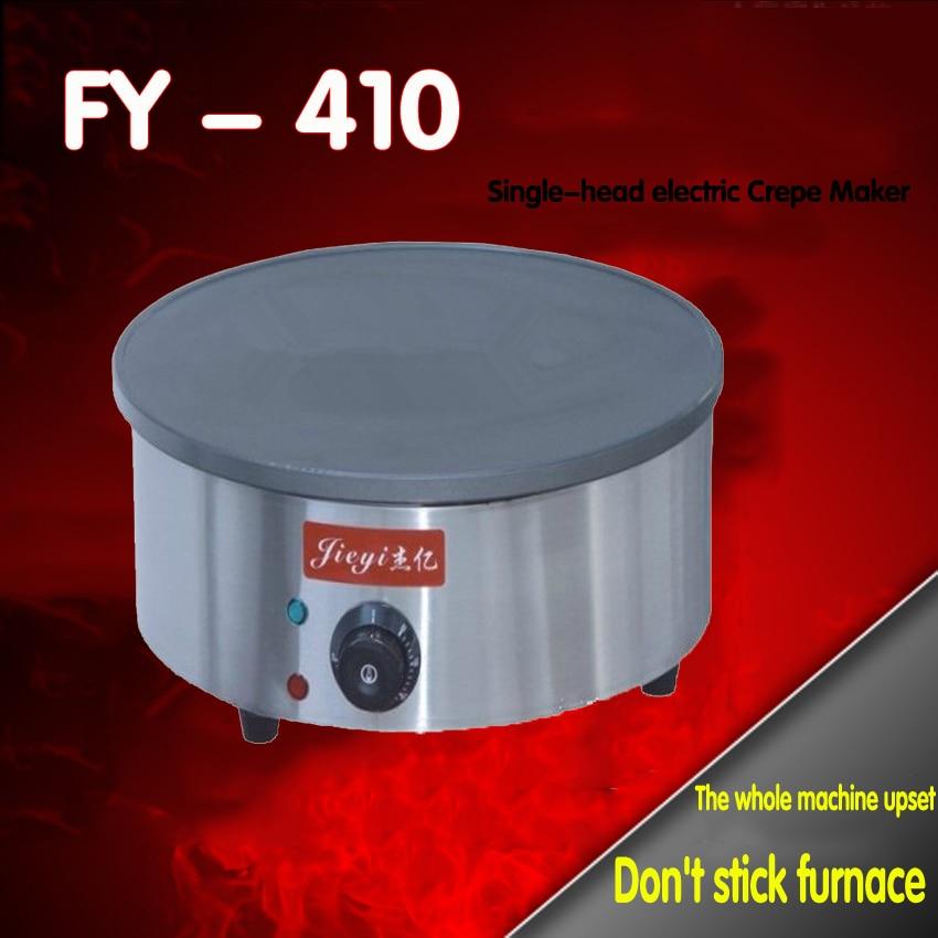 1 PC 220V Single end electric pancakes furnace heating furnace egg cake Fried furnace crepe machine pc 220 б у