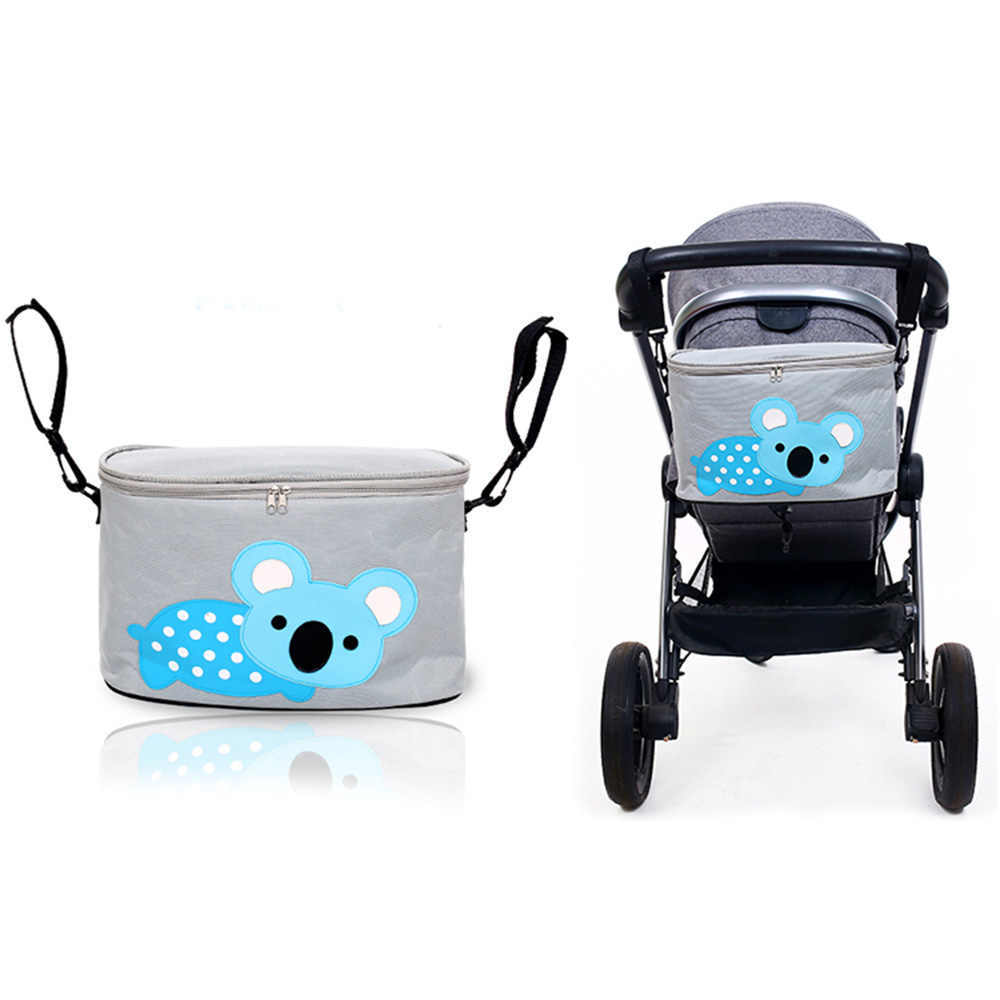 Cute Cartoon Stroller Bag Large Capacity Hanging Bag stroller Organizer Multi Compartment Maternity Mummy Bag Storage Basket