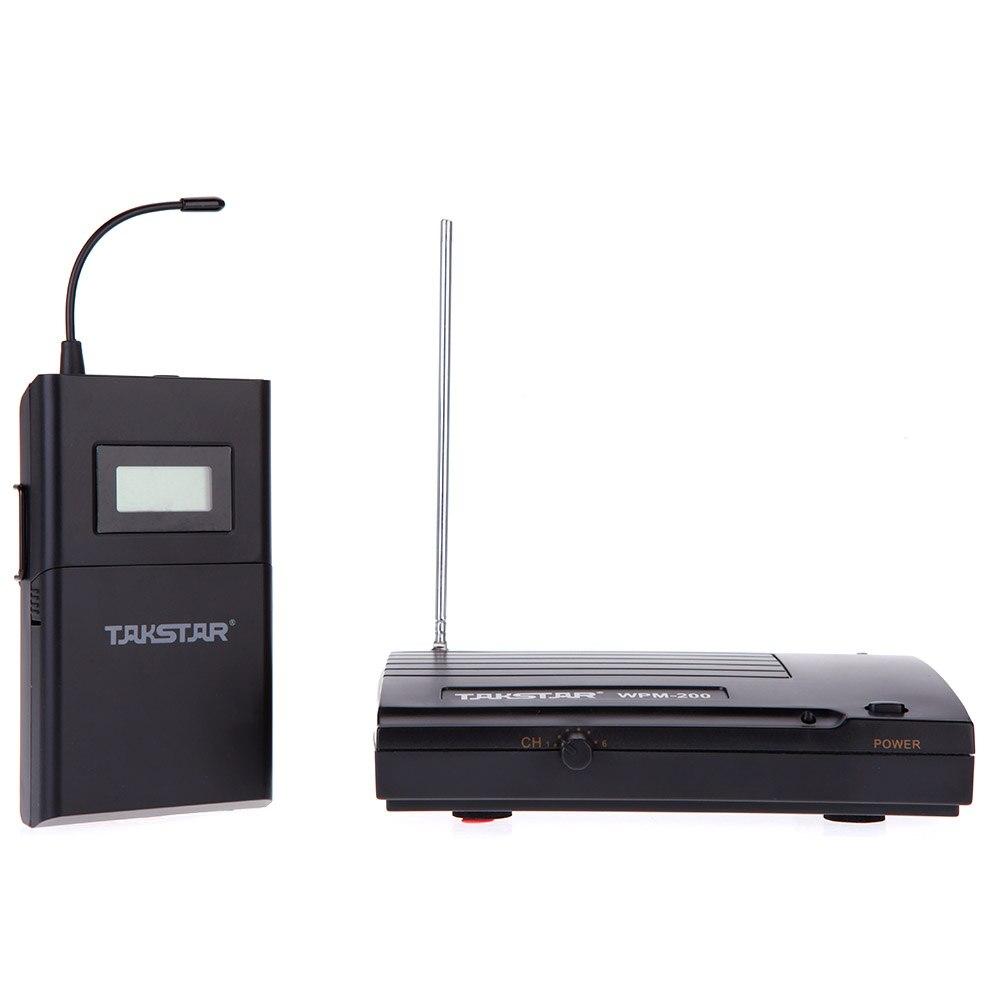 Hot Takstar WPM-200 UHF sans fil moniteur système 50 m Distance de Transmission dans l'oreille stéréo casque casque émetteur récepteur