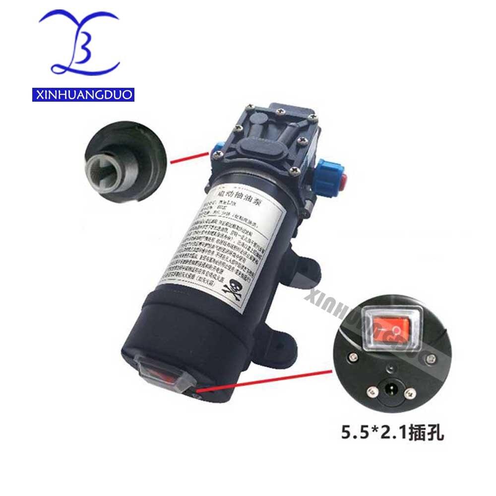 80 W 8L/min12v/24 V dc mini pompe à mazout pour Diesel, essence, pompe de transfert de kérosène pour voiture Motorbikevehicle kits pompe à huile