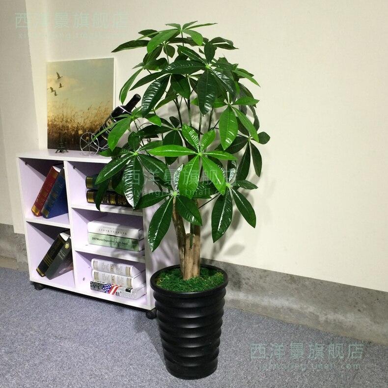 multi bar pachira faux arbre fleurs plante verte tage salon d coratif en plastique en pot. Black Bedroom Furniture Sets. Home Design Ideas