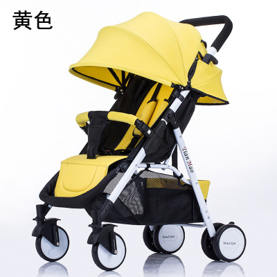 Baby stroller light portable can sit and lie folding four wheel shock absorber trolley baby child car small stroller