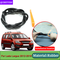 Car-styling For Lada Largus 2012-2018 Anti-Noise Soundproof Dustproof Car Dashboard Windshield Sealing Strips   Auto   Accessories