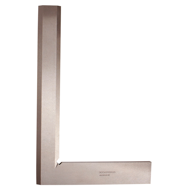 Angle Square 300 200mm Knife Shaped Broadside 90 Degree Angle Blade Ruler Grade 0 Gauge Stainless