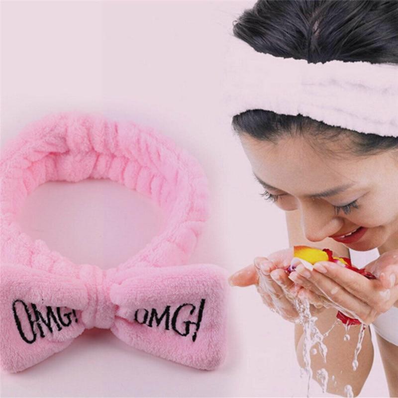 Big Bow Headband Hair Ropes Mask Soft Band Women Face Wash Makeup NEW