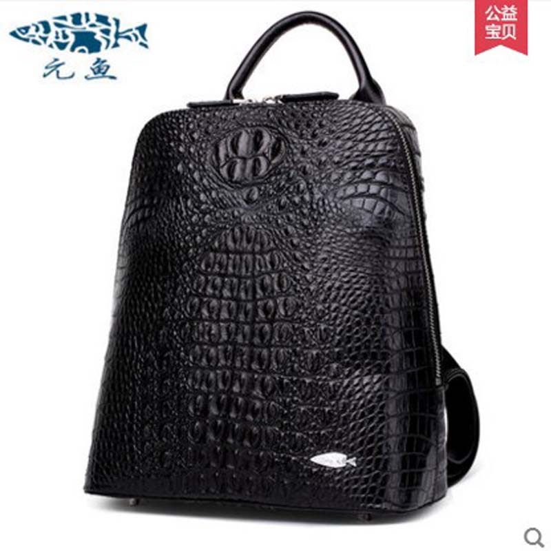 yuanyu The new real crocodile man backpack Men  women bags leisure bags business women backpack men backpack kraftwerk kraftwerk the man machine remaster