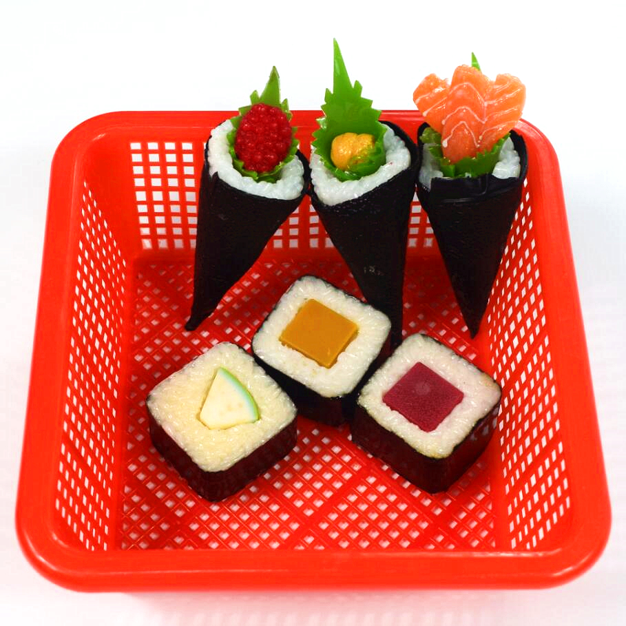 1 Set of Children Wooden Simulation Sushi Group Simulated Food Toys for Kids