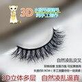 Atacado 2016 Novo stlye 3d11 Natural 3D 100% Real Mink Cílios Falsos Cílios Falsos Extensions Maquiagem bonita ferramenta