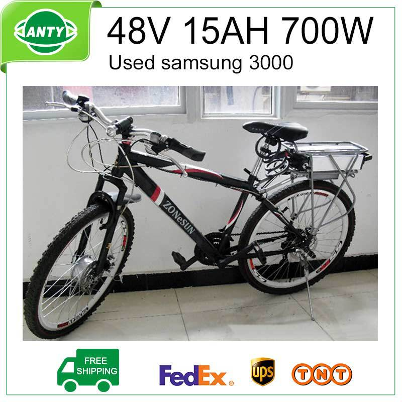 48V 15Ah Bicycle Battery 700W (Samsung 3000) e bike Battery 48V with 2A Charger,BMS Lithium Electric Bike Scooter Battery 48v free customs taxes 48v 40ah portable lithium battery with 2000w bms chargrer e bike electric bicycle scooter 48v lithium battery