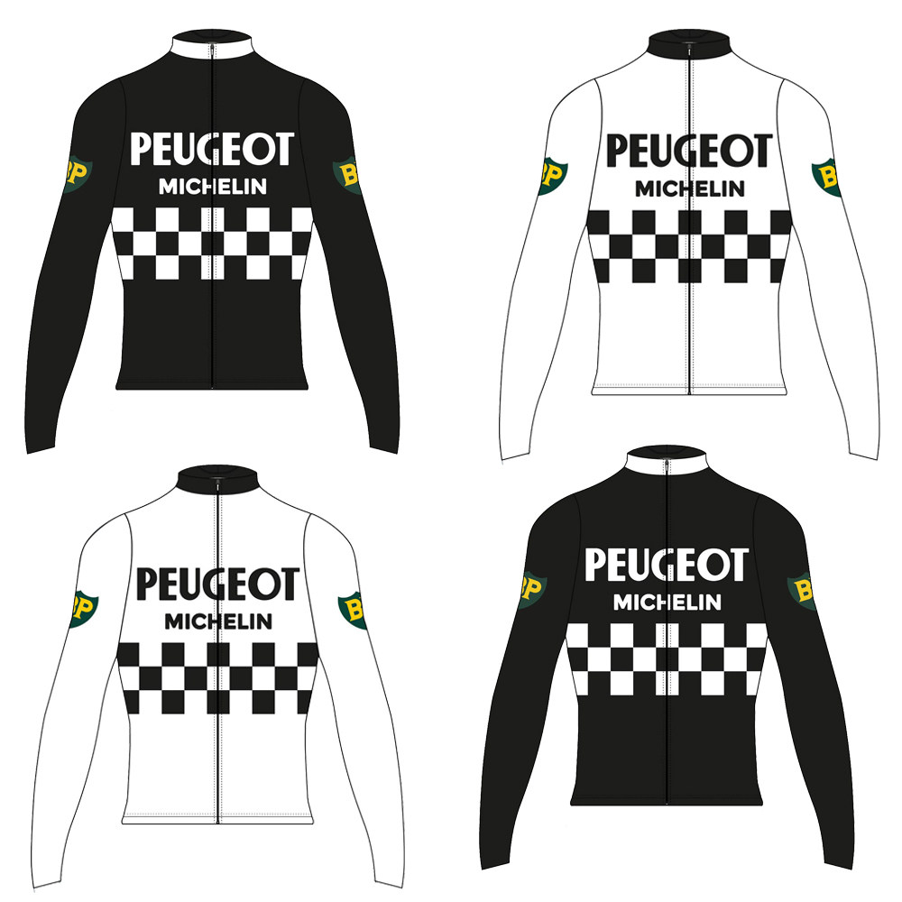 PEUGEOT cycling jersey Men long sleeve bike wear winter fleece and Spring  Autumn thin cycling clothing ropa Ciclismo 115bc5882