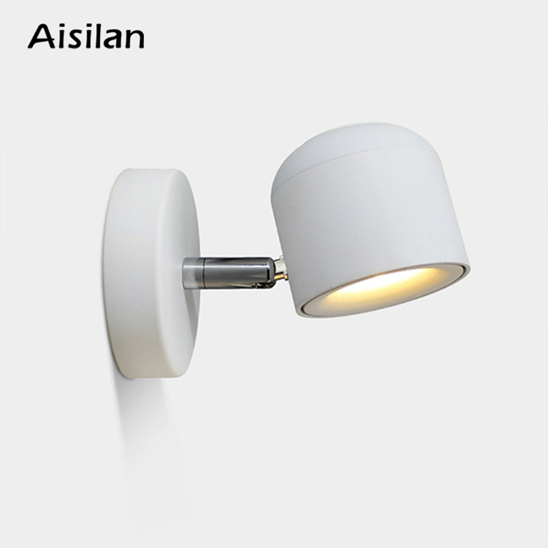 Aisilan Nordic <font><b>wall</b></font> light beside <font><b>wall</b></font> lamp adjustable style for corridor bedroom living room AC85-260V 7W <font><b>spot</b></font> <font><b>led</b></font> image