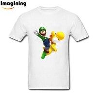 Tops Design Man Super Mario Tees Shirt Fashion Mens Custom Short Sleeve Mens Big Size Shirts