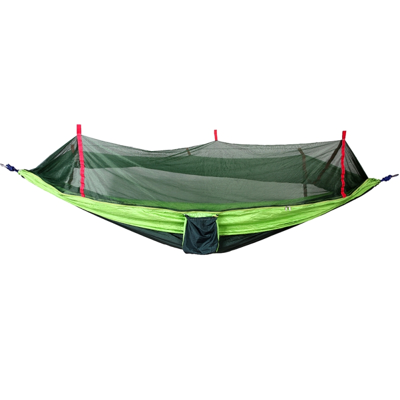 Portable Anti-Mosquito Outdoor Hammock Traveling Hanging Bed with Mesh Net Flies Cover Garden Backyard Hanging Parachute Hammock 2017 portable nylon garden outdoor camping travel furniture mesh hammock swing sleeping bed nylon hang mesh net