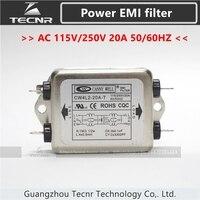 CW4L2 20A T Single Phase Power EMI Filter AC 115V 250V 20A 50 60HZ
