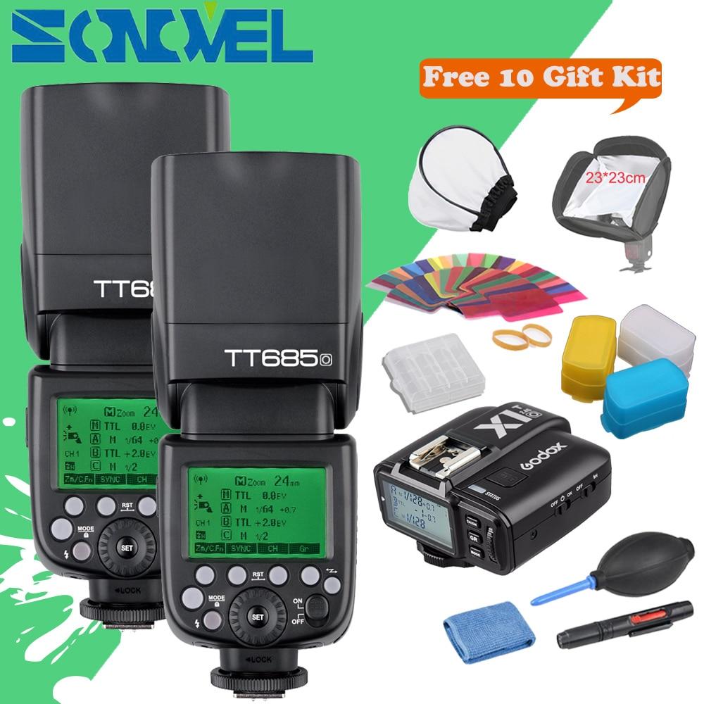 In stock!!! 2x Godox TT685O+X1T-O Transmitter 2.4G HSS 1/8000s TTL II GN60 Camera Flash Speedlite for Panasonic Lumix / Olympus x transbots boosticus kit bek 01tk for tt briticus japanese version in stock