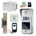 Бесплатная Доставка Беспроводной Wi-Fi Код Клавиатуры Дверной Звонок 720 P Видеодомофон для Andriod IOS Телефон Удаленный Просмотр/Разблокировки + Удар e-lock