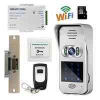 Free Shipping Wireless Wifi Code Keypad Doorbell 720P Video Intercom For Andriod IOS Phone Remote View