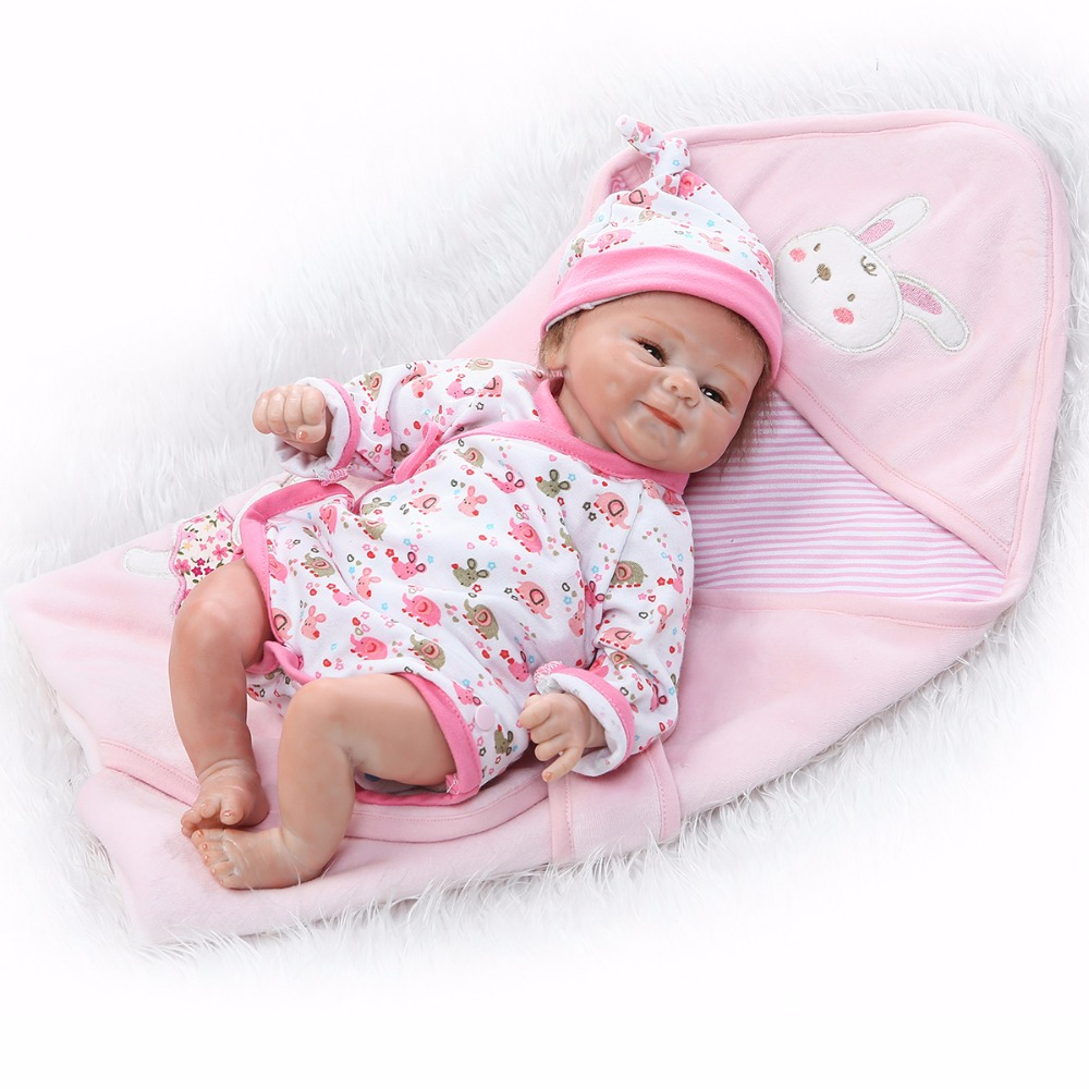 Pursue 17/42 cm Cloth Body Doll Reborn Silicone Real Baby Dolls Toys for Girls Best Playmate House Play Toys Birthday XMAS Gift pursue 22 55 cm bebe reborn silicone baby dolls toys for children girls house playmate baby alive soft toys best gift for girls