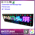 led message sign board p10 led display module rgb outdoor advertising board diy led door sign 48*128 Pixel programmable led