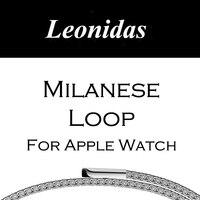 LEONIDAS Milanese Boucle Pour Apple Montre Bande Maille En Acier Inoxydable Magnétique Fermeture Sangle pour Apple Montre 42mm Serise 1,2, 3