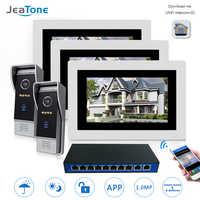 7 ''WIFI IP Video Tür Sprechanlage Tür Glocke Lautsprecher Access Control System Touch Screen Motion Erkennung 2 Türen 3 wohnungen