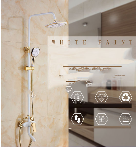 Shower shower set full copper main shower device dark installed mixed water valve water saving pressure nozzle 3 stop type Shower shower set full copper main shower device dark installed mixed water valve water saving pressure nozzle 3 stop type